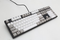 Bàn phím cơ Ducky One PBT Grey White Keycaps Blue switch