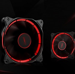 Fan Case SAMA HALO 120mm LED RIING RED