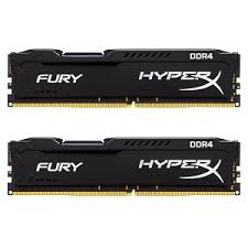 RAM Kingston 32GB 2400MHz DDR4 CL15 DIMM  (Kit of 2) HyperX Fury Black  HX424C15FBK2/32