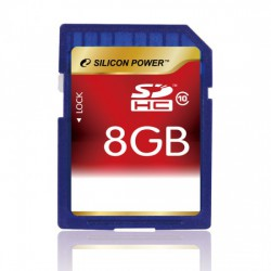 Silicon Power - SD Card SDHC 8G Class 10