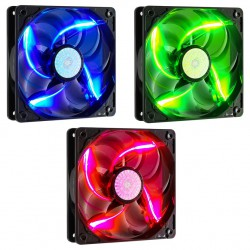 Fan case Cooler Master FAN 90cfm silent LED fan 120mm (Red/ Blue/ Green)