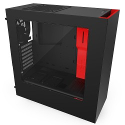 Case NZXT S340  Red on Black