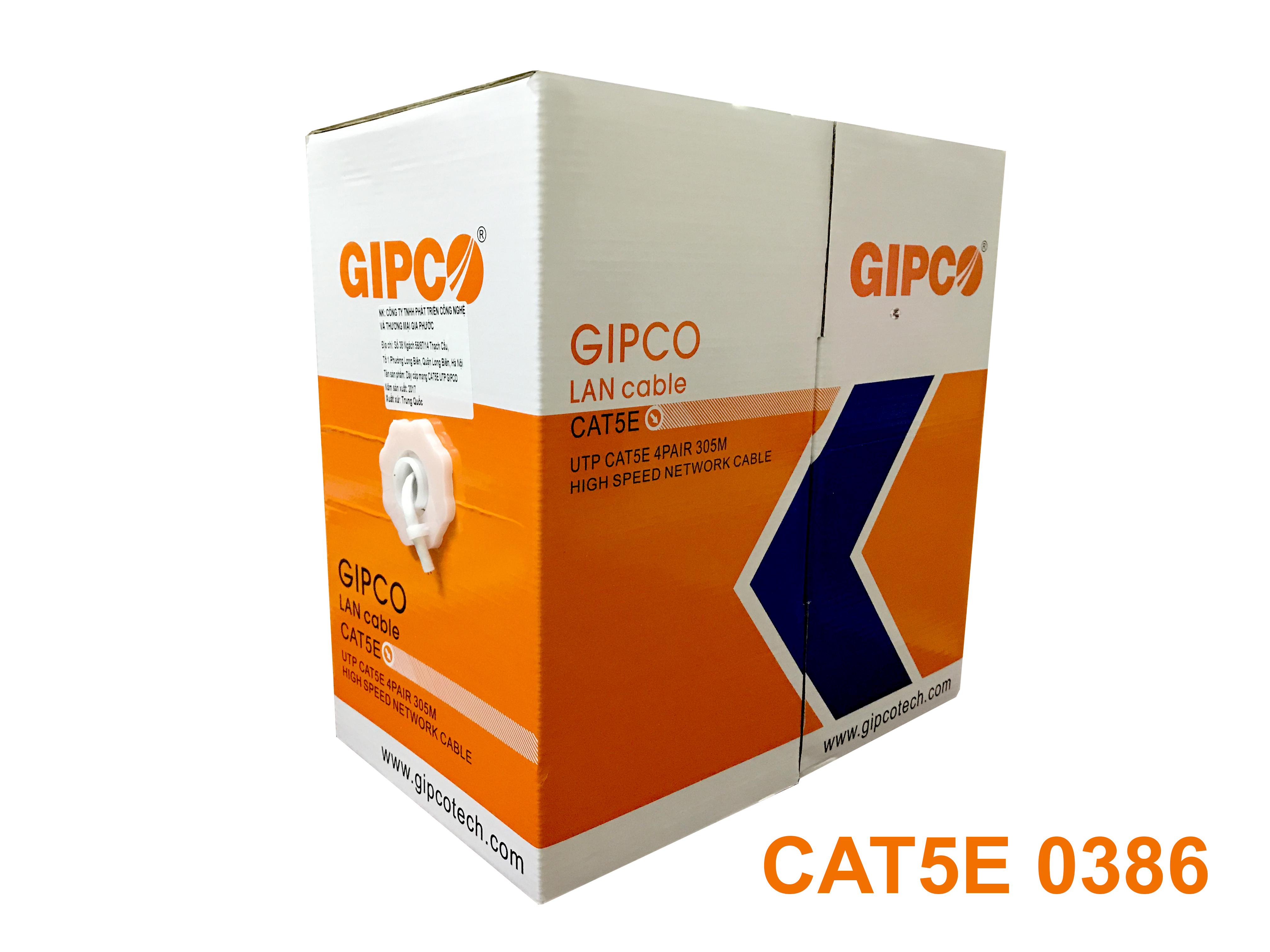 Cable Mạng GIPCO - UTP CAT5E - 0386
